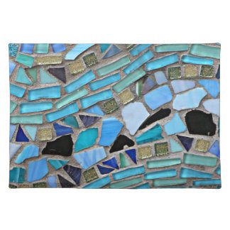 Mosaic turquoise pattern placemat