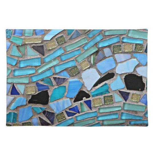 Mosaic turquoise pattern placemat