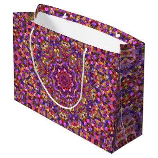Mosaic  Vintage Kaleidoscope  Gift Bag - Large