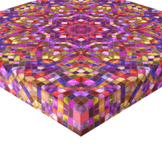 Mosaic Vintage Kaleidoscope  Wrapped Canvas