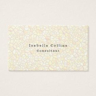Mosaic Wall Plain Minimalist Creative Modern Business Card