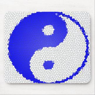 Mosaic Yin Yang Design Computer Mousepad