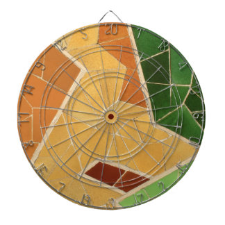 Mosaics decoration dart board