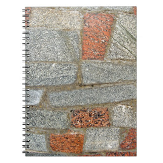 Mosaics made of large stone blocks of marble spiral note book