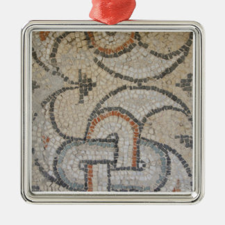 Mosaics of Meydankapi, circa 4th century A.D. Silver-Colored Square Decoration