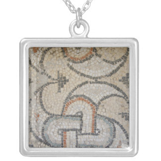 Mosaics of Meydankapi, circa 4th century A.D. Silver Plated Necklace