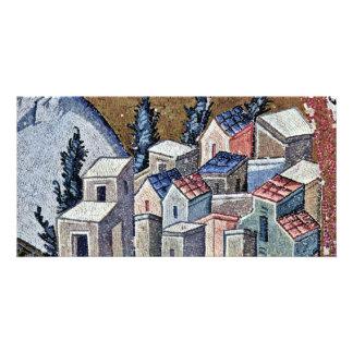 Mosaics Of The Church Kahri-Djami Scene In Istanbu Custom Photo Card