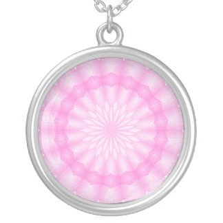 Mosaik Mandala (winks hot) Silver Plated Necklace