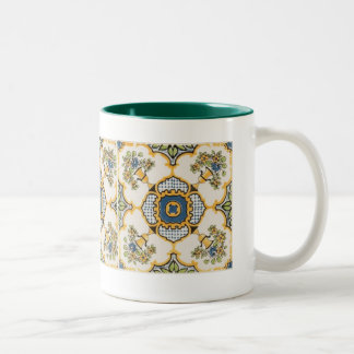 Mosaique Arabesque Two-Tone Coffee Mug
