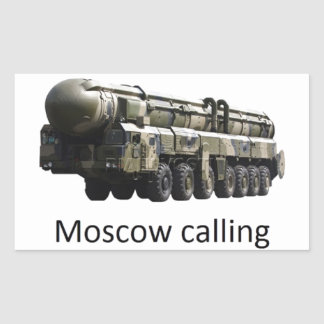 moscow calling topol m rectangular sticker
