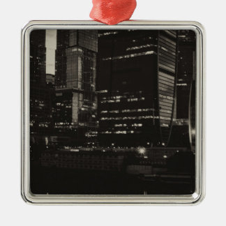 Moscow International Business Center Silver-Colored Square Decoration