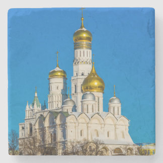 Moscow Kremlin cathedrals Stone Coaster