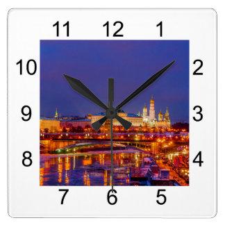 Moscow Kremlin Illuminated Wall Clocks