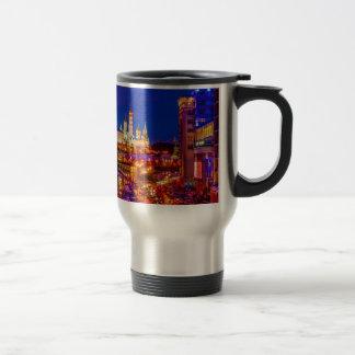 Moscow Kremlin In Winter Night Travel Mug