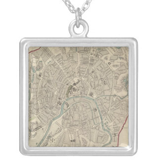 Moscow Moskvy Square Pendant Necklace