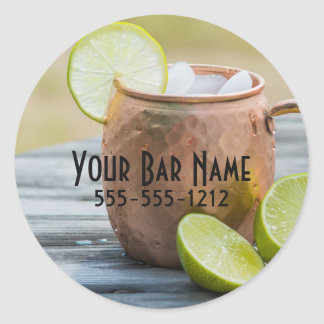 Moscow Mule Advertisement Round Sticker