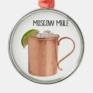 Moscow Mule Copper Mug Low Poly Geometric Design Christmas Ornament