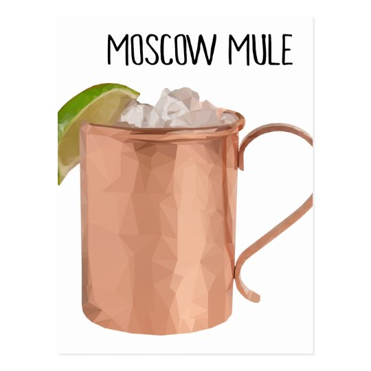 Moscow Mule Copper Mug Low Poly Geometric Design