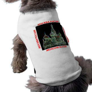 Moscow Neon Sleeveless Dog Shirt