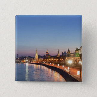 Moscow River at Dusk 15 Cm Square Badge