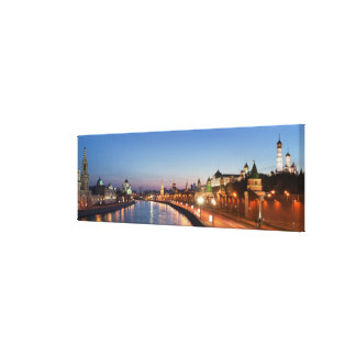 Moscow River at Dusk Canvas Prints