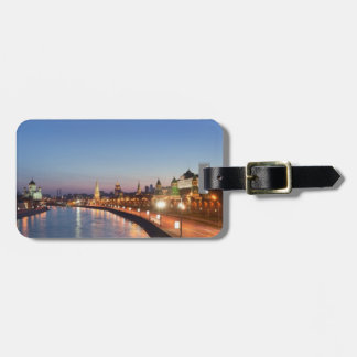 Moscow River at Dusk Luggage Tag