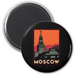 moscow russia kremlin art deco retro travel magnet