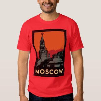 moscow russia kremlin art deco retro travel shirt