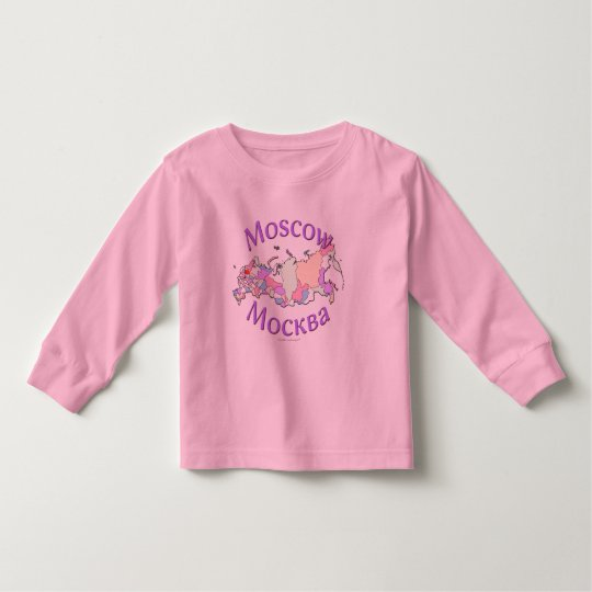 Moscow Russia Map Toddler T-Shirt