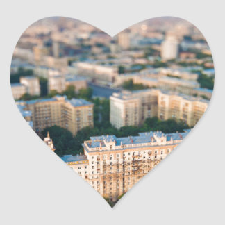 Moscow skyline heart sticker