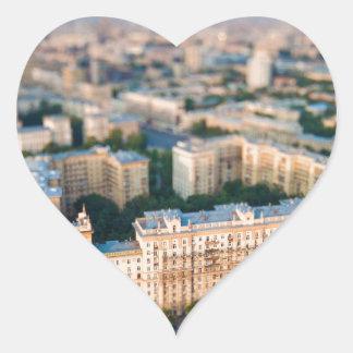 Moscow skyline heart sticker