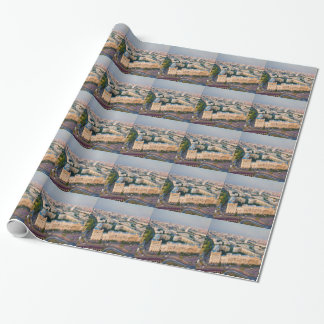 Moscow skyline wrapping paper