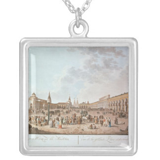 Moscow Square Pendant Necklace