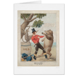 Mose in California: Set-to with a Bear (1475) Card