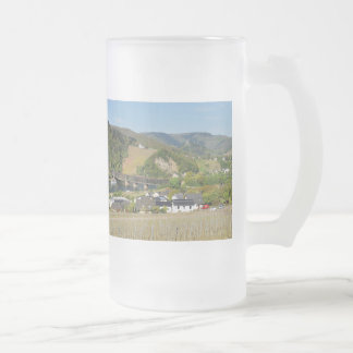 Moselle bridge with Bullay Frosted Glass Beer Mug