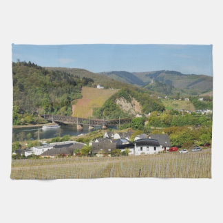 Moselle bridge with Bullay Tea Towel