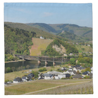 Moselle valley with Bullay Napkin