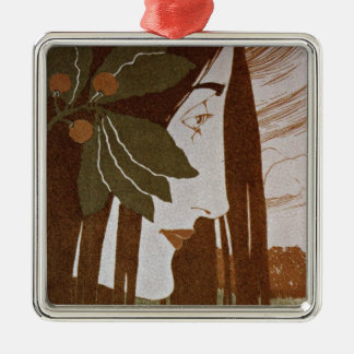 Moser: A Decorative Stain in Red and Green Christmas Ornament