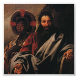 Moses and His Ethiopian Wife by Jordaens Poster