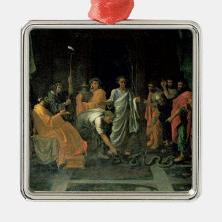 Moses and the Brazen Serpent (oil on canvas) Christmas Ornament