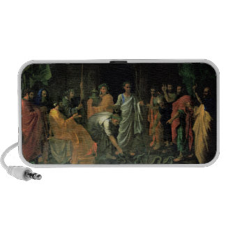 Moses and the Brazen Serpent (oil on canvas) Portable Speakers