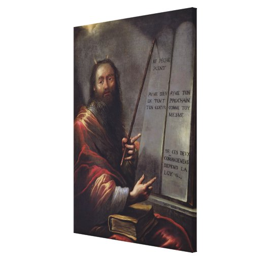Moses and the Tablets of the Law Gallery Wrap Canvas