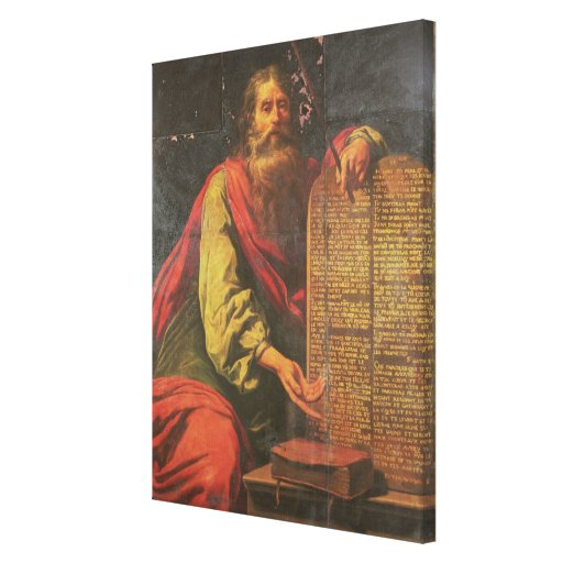 Moses and the Tablets of the Law Gallery Wrapped Canvas