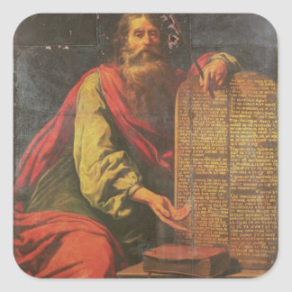 Moses and the Tablets of the Law Square Sticker