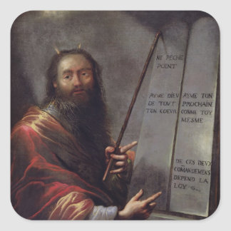 Moses and the Tablets of the Law Stickers