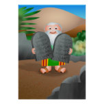 Moses and The Ten Commandments Bible Story Print