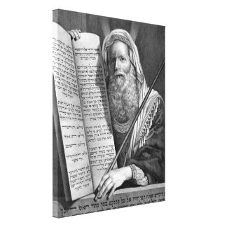 """""""Moses and the Ten Commandments"""" canvas print"""