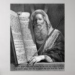 """Moses and the Ten Commandments"" print/poster"