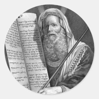 Moses and the Ten Commandments Sticker