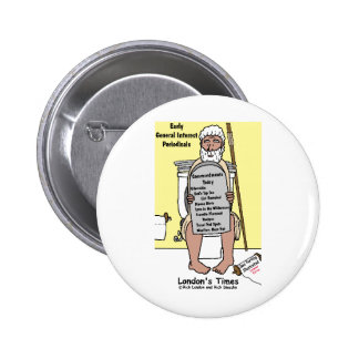 Moses' Bathroom Reading Funny Gifts & Tees 6 Cm Round Badge